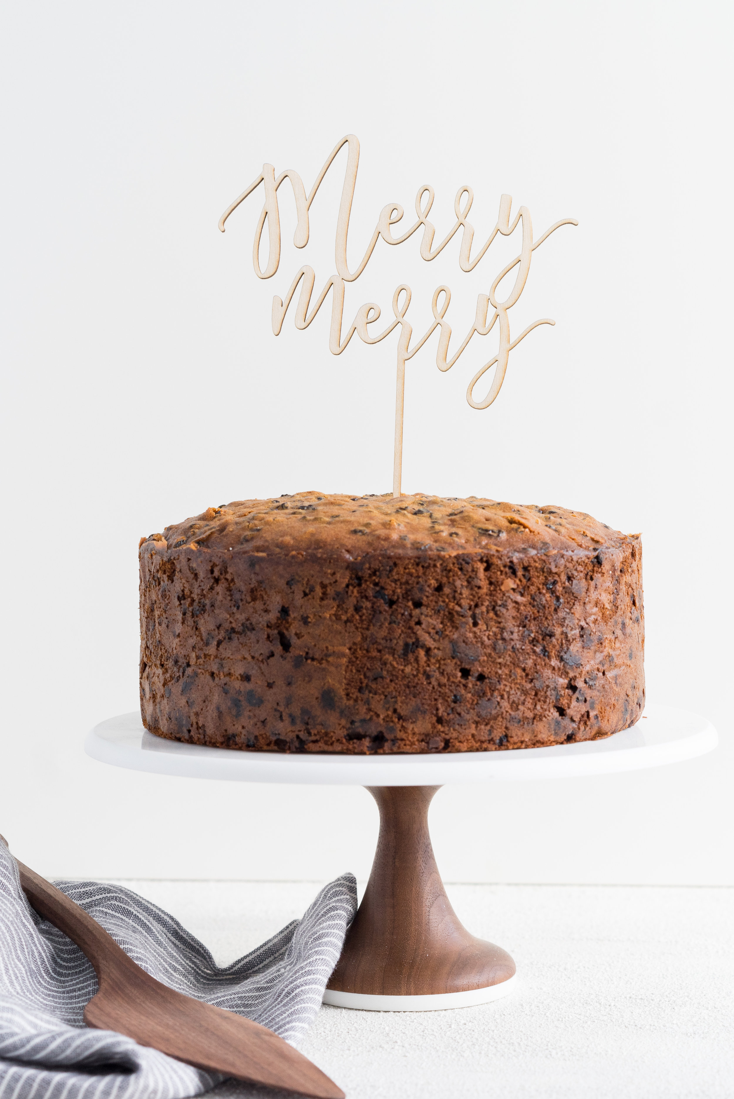 My Great Grandmother's Christmas cake - a rich fruit cake, loaded with dried fruit and christmas spice. A family heirloom in itself!
