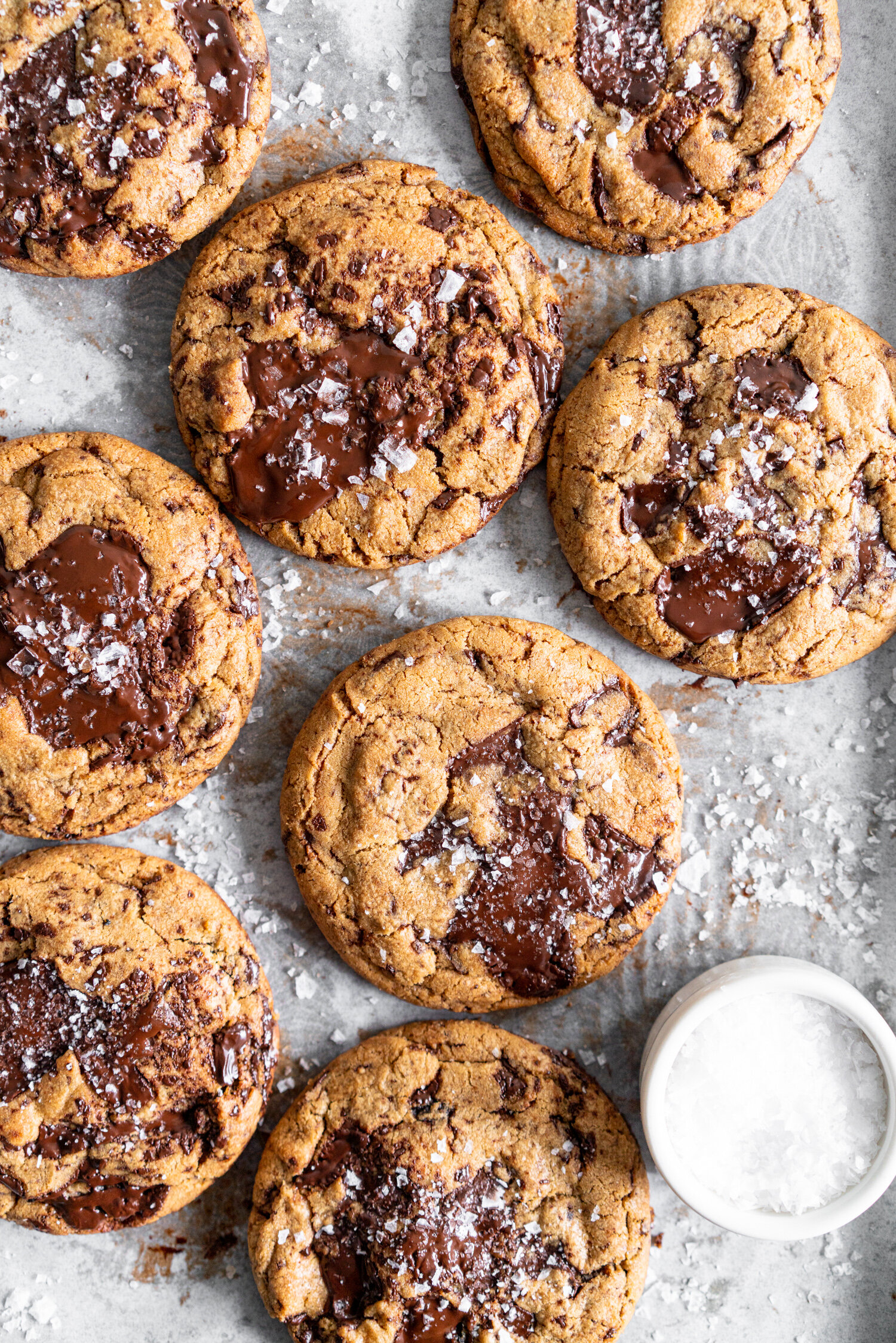 Dark Chocolate Peanut Butter Stuffed Chocolate Chip Cookies