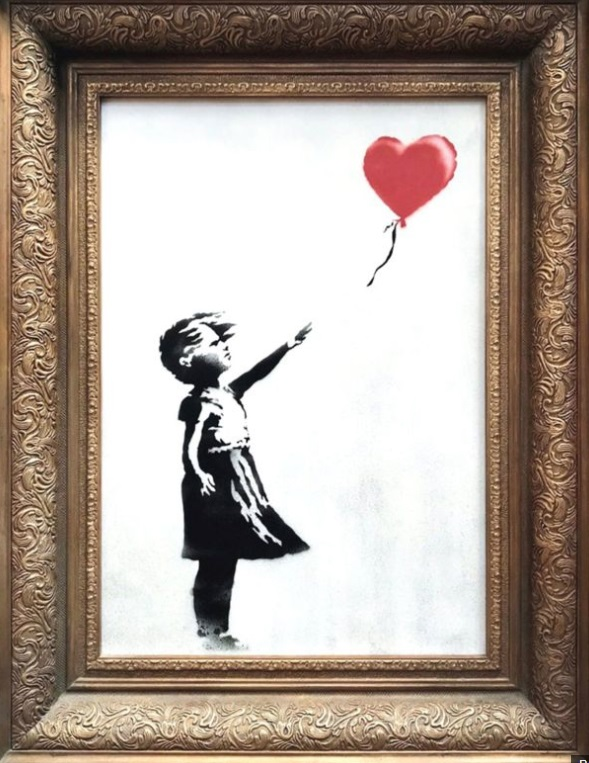 Banksy's  Girl With Balloon , 2006, estimated at £200,000 - £300,000