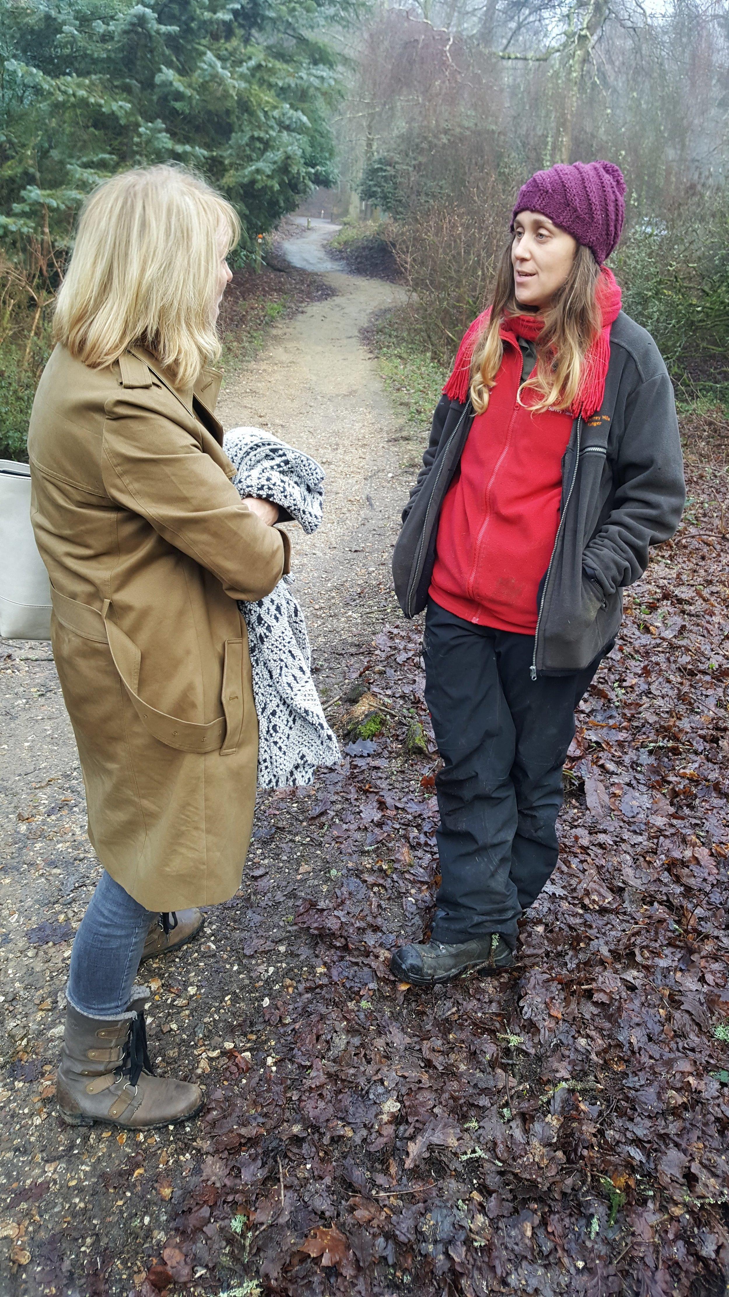 Julie Hoyle (artist) and Sophie Parker (ranger)