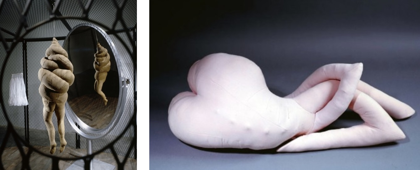 Entangled Limbs: Bourgeois - Cell XXVI (detail) (2003) / Tanning - Nue couchée (1969)