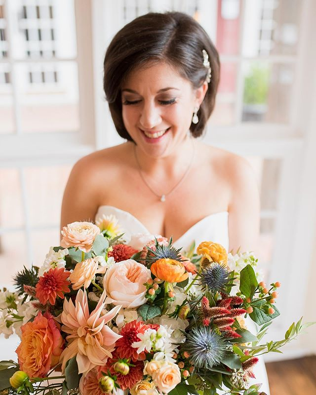 This beautiful bride was so much fun to be with on her wedding day! She fully embraced every aspect, including the rain that started falling just before the ceremony and I lost count of how many times she asked how I was doing and if we needed anything. Truly the sweetest! Can't wait to wrap this gallery up soon!  And these flowers by @bantamandbloom 😍 are making everything about this day so gorgeous! #morgancorbettphotography #atlantaweddingphotographer #athensgaweddingphotographer