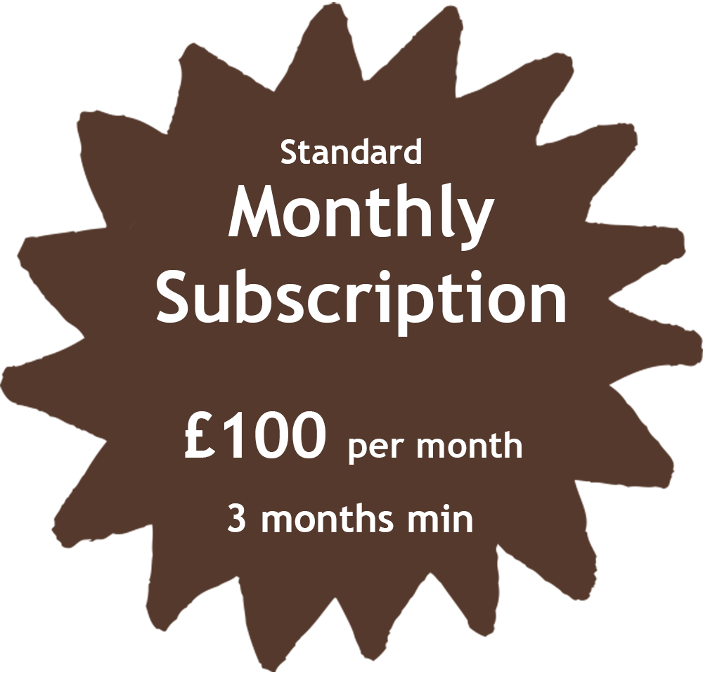 Standard Monthly Subscription Price Tag