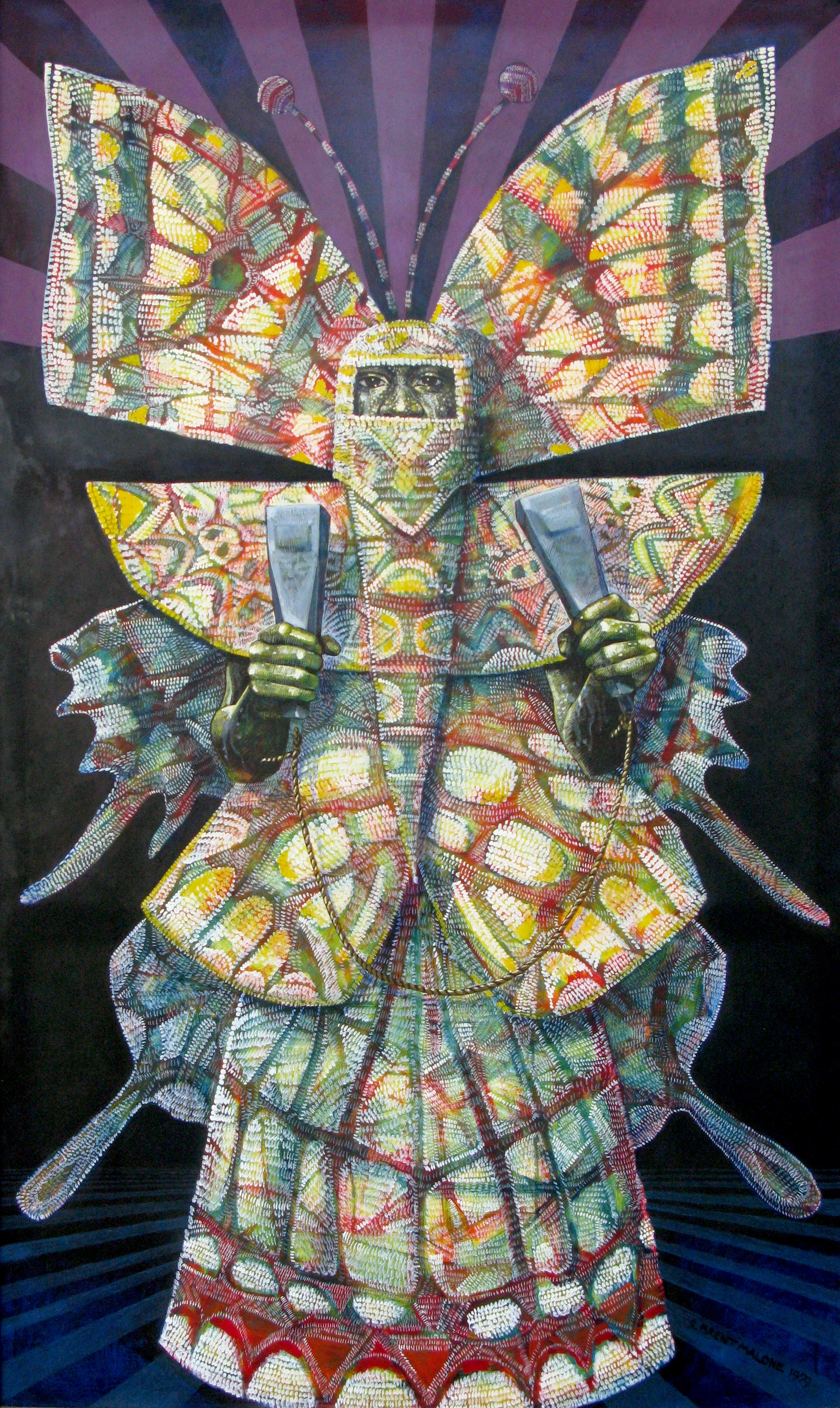 "Brent Malone   Metamorphosis,  1979 Oil on canvas 60"" x 36"" National Collection"
