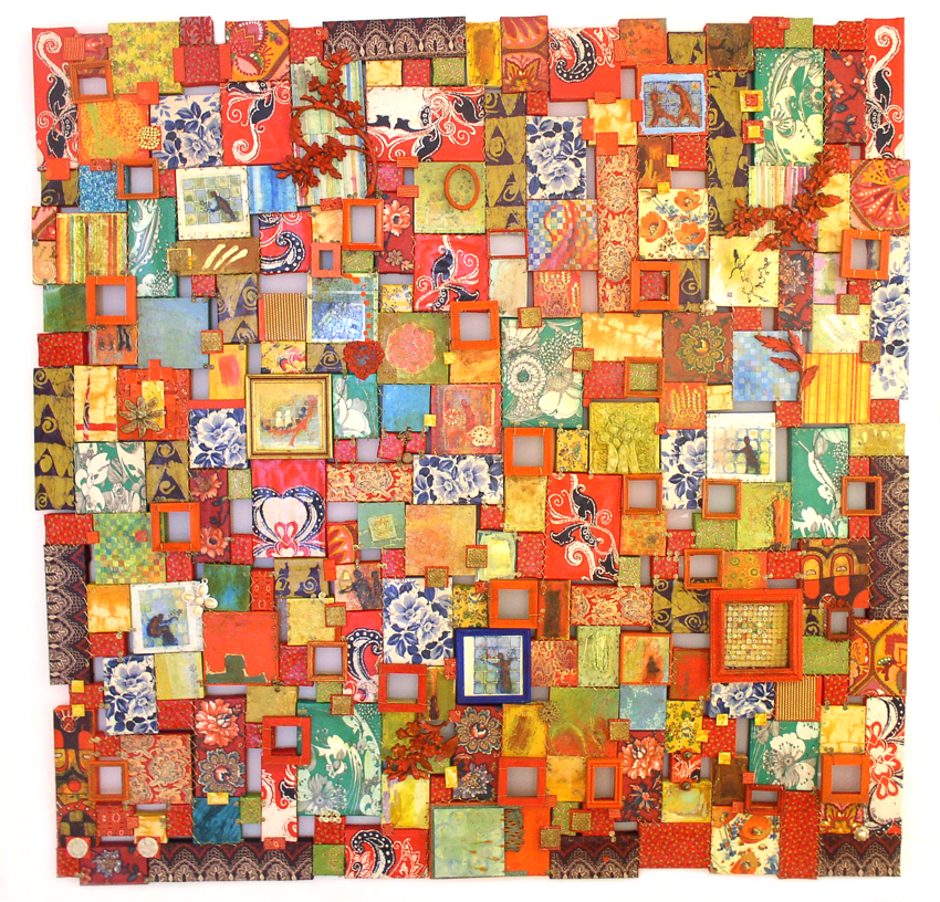 """Lilian Blades   Things to come, 2003 Mixed assemblage,78"""" x 78"""" x 3"""" National Collection"""