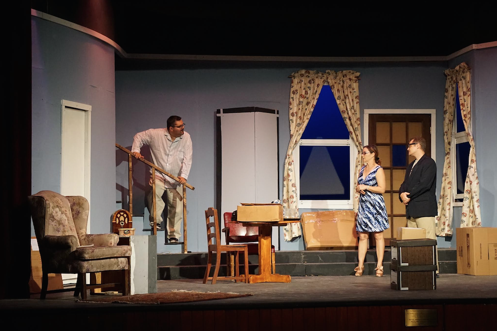 """Actors performing a scene in the first act of the play """"Clybourne Park"""", which is now on at the Dundas. Images by Kelsey Nottage."""