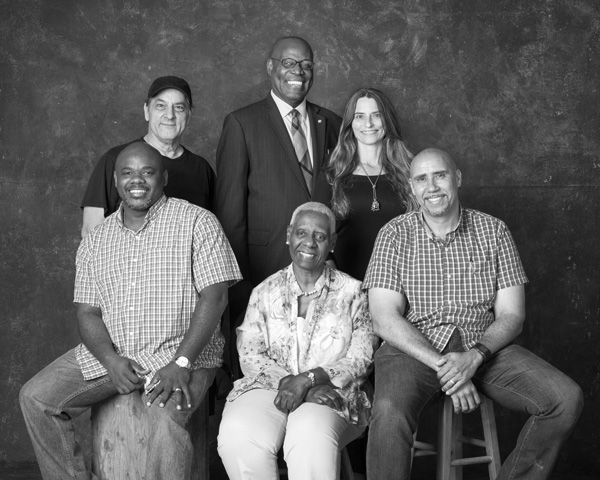 Bahamian Project Advisory Board - Front row: Rashad Penn, Rosemary Hanna, Guilden Gilbert. Back row: Duke Wells, Anthony Newbold, Ana-Lisa Wells