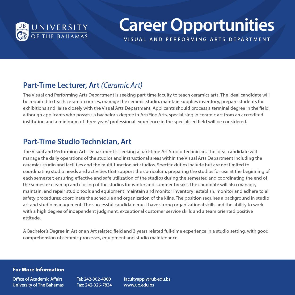 UB Visual Arts - Career Opportunities (March 2017 Ad).jpg