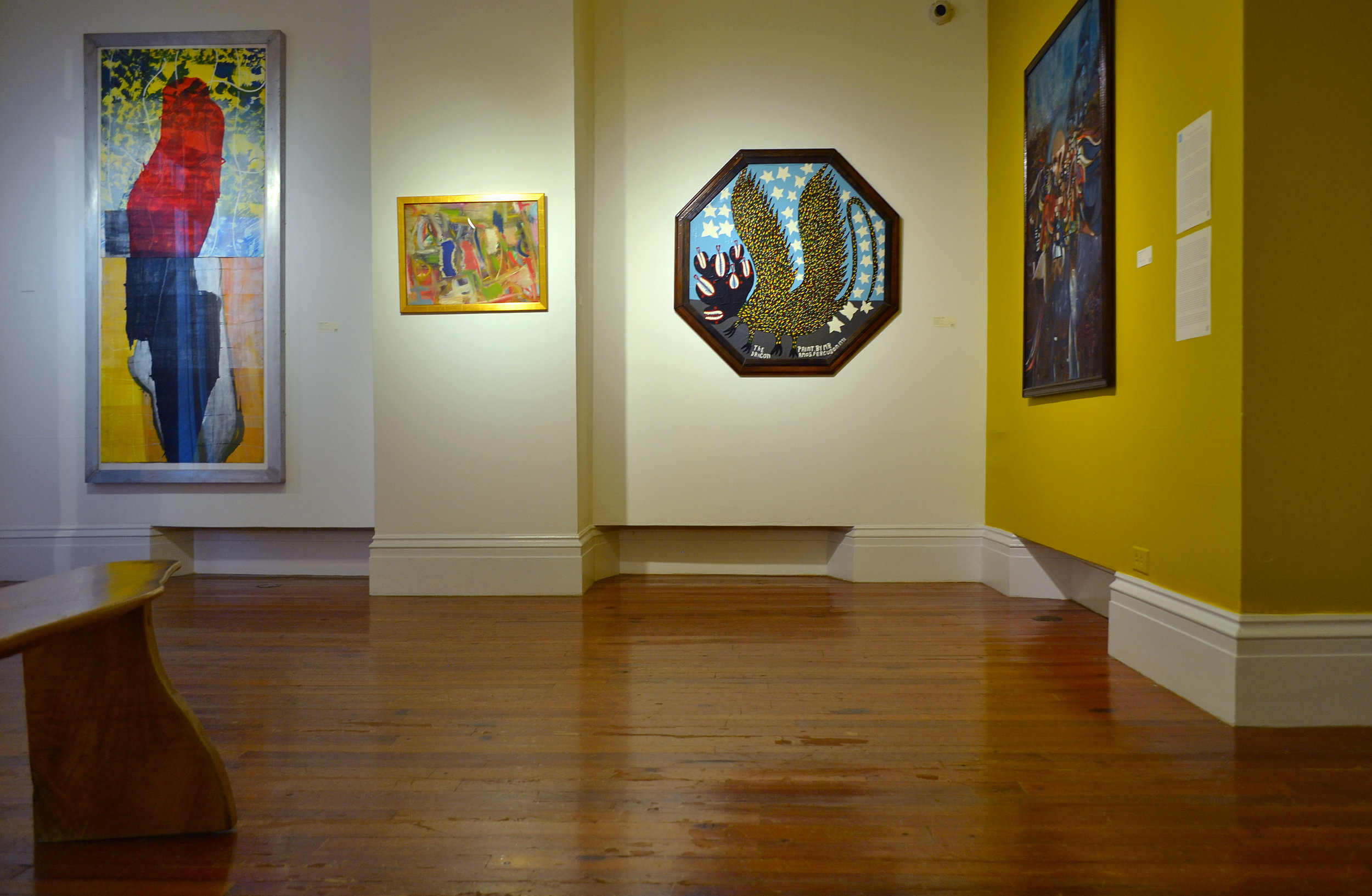 """Installation shot of """"The Dragon"""" (1991) by Amos Ferguson, as seen in the current Permanent Exhibition """"Revisiting An Eye For The Tropics"""". Image courtesy of the NAGB."""