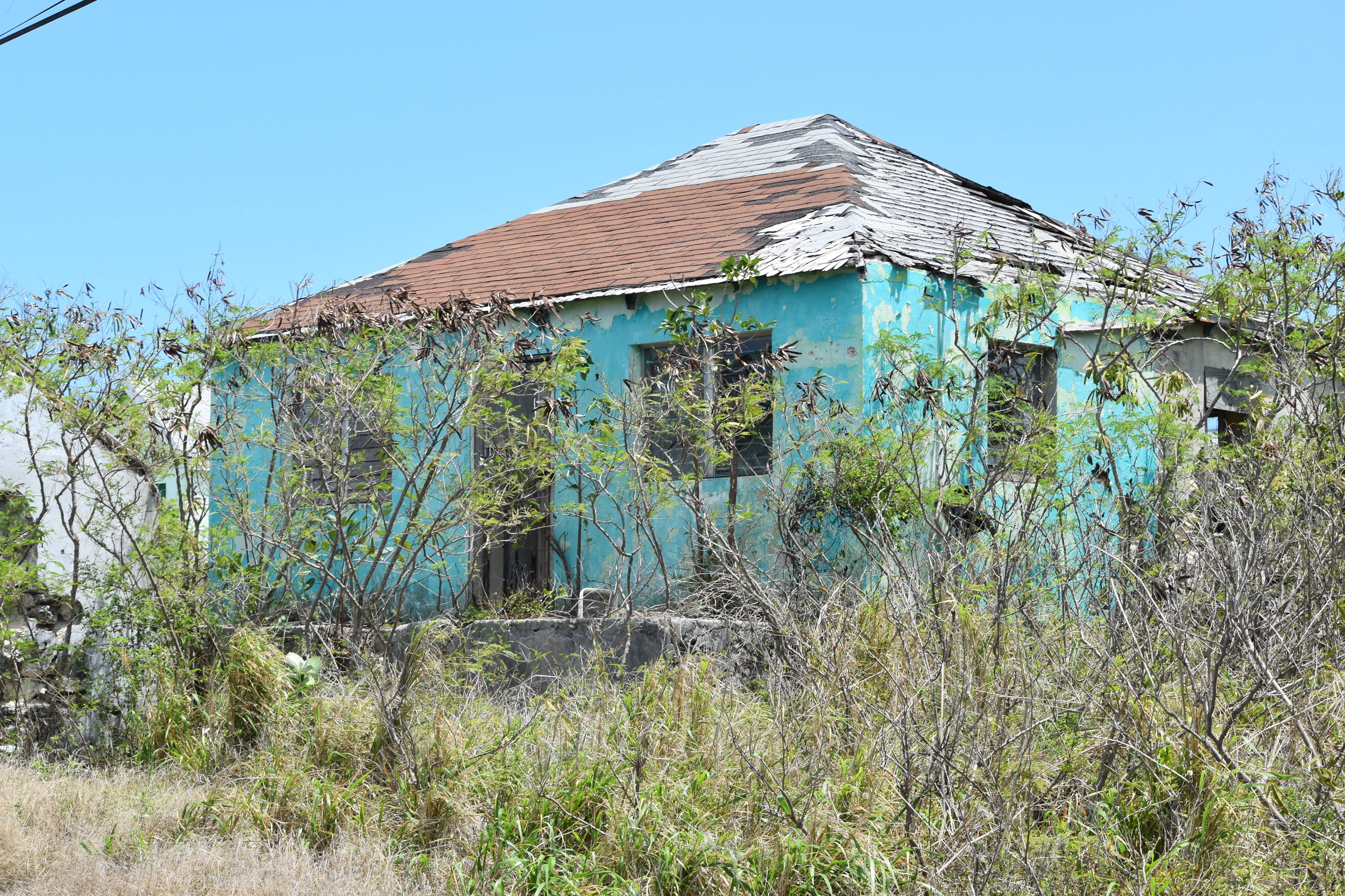 Dying settlements on Exuma, abandoned schools and clinics after the passage of Hurricanes Irene and Sandy (2011, 2012 respectively. All photographs courtesy of Dr. Ian Bethell-Bennett.