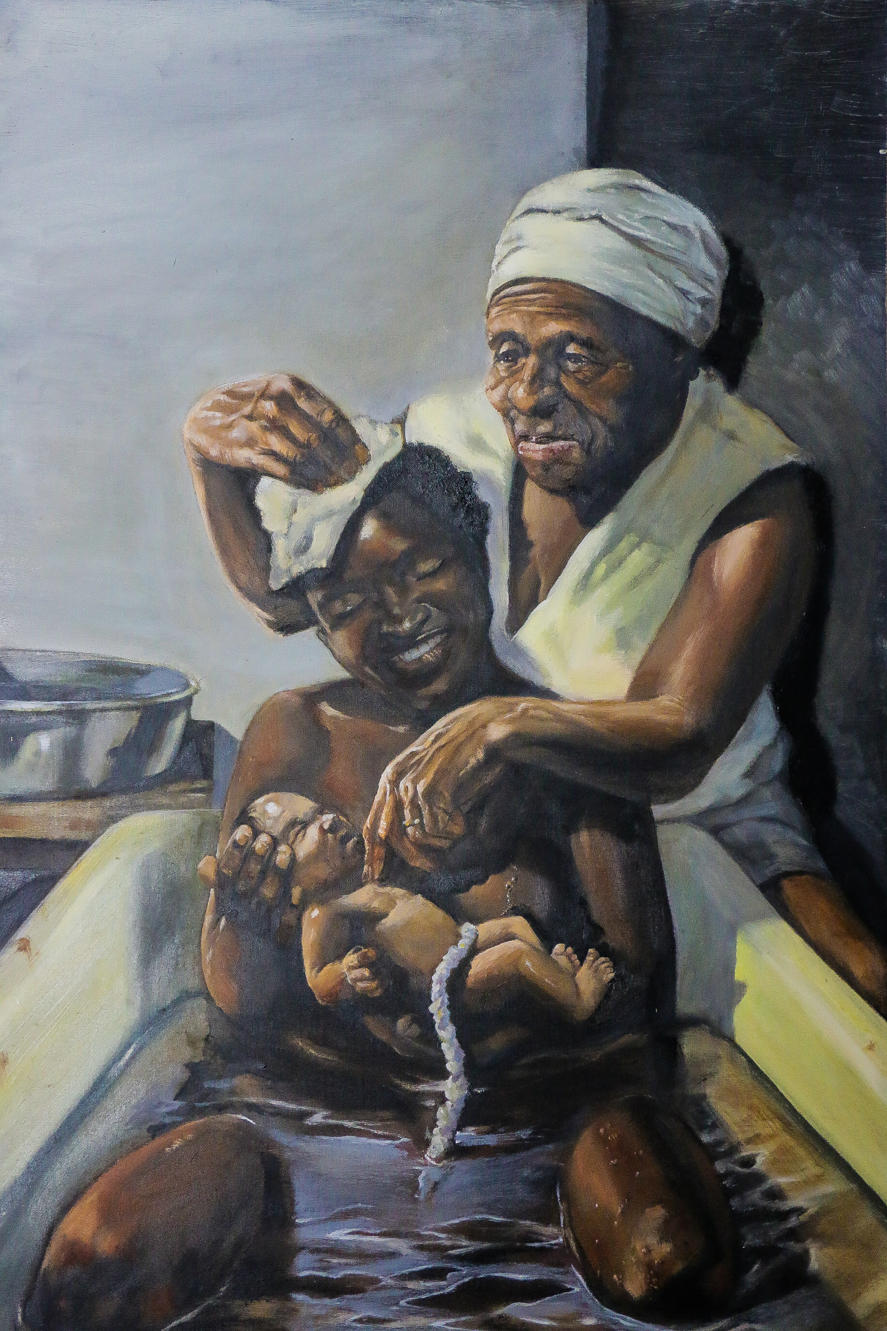 '3 Generations, by Durelle Williams, oil on canvas. 2017