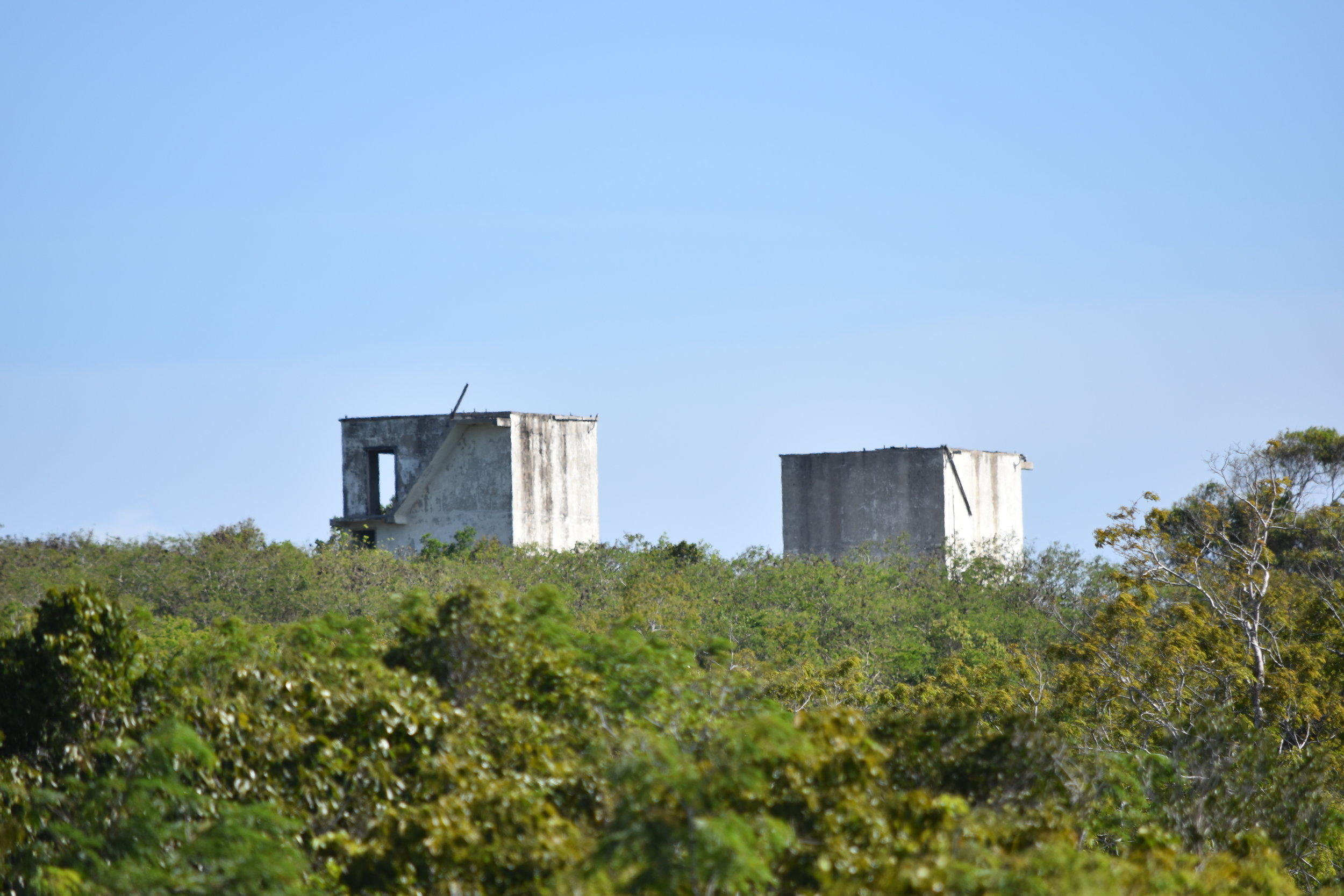 Remnants of old US NASA testing base in Mayaguana.