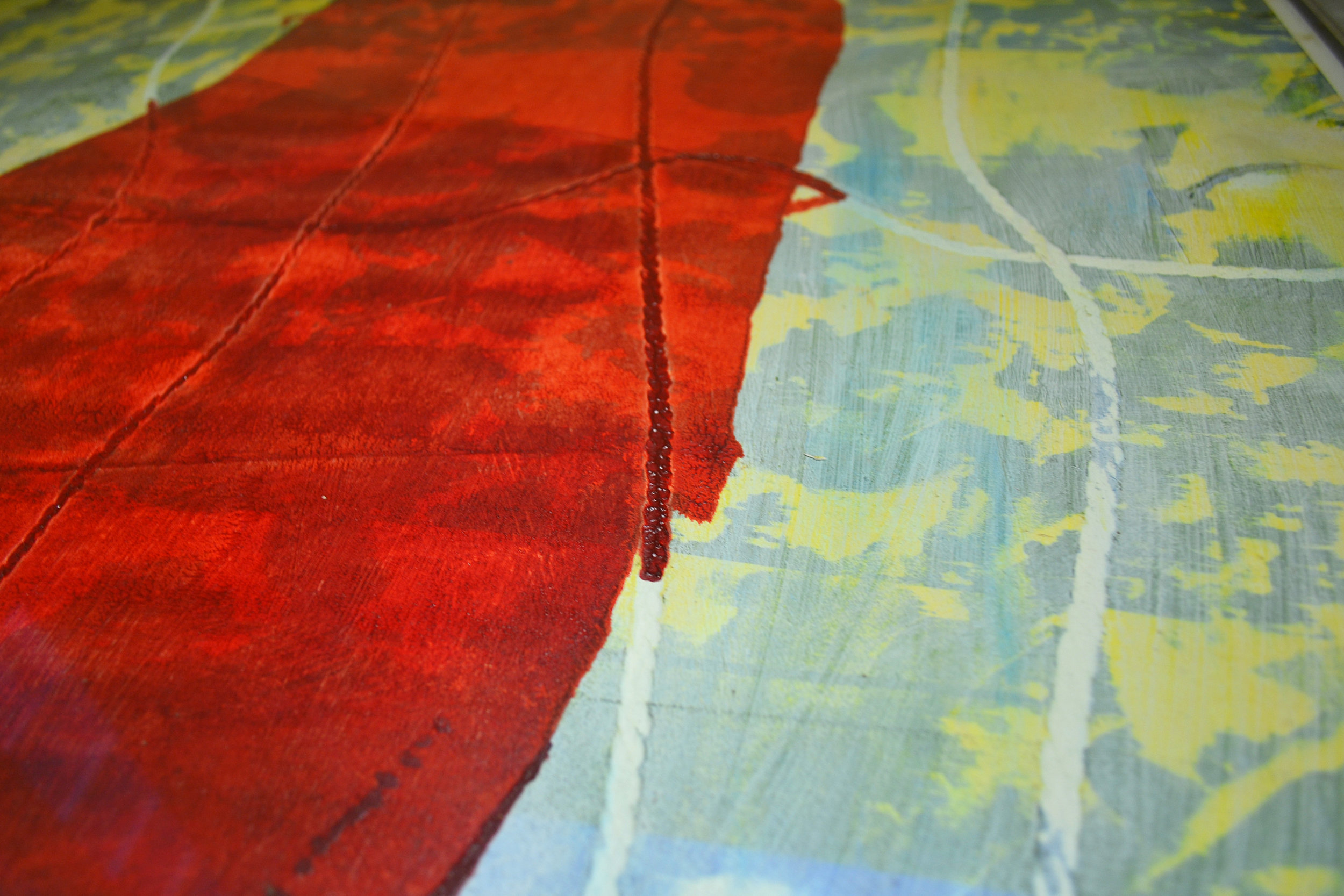 "Detail of Michael Edwards' monoprint, ""Untitled II"" (2000), part of the National Collection."