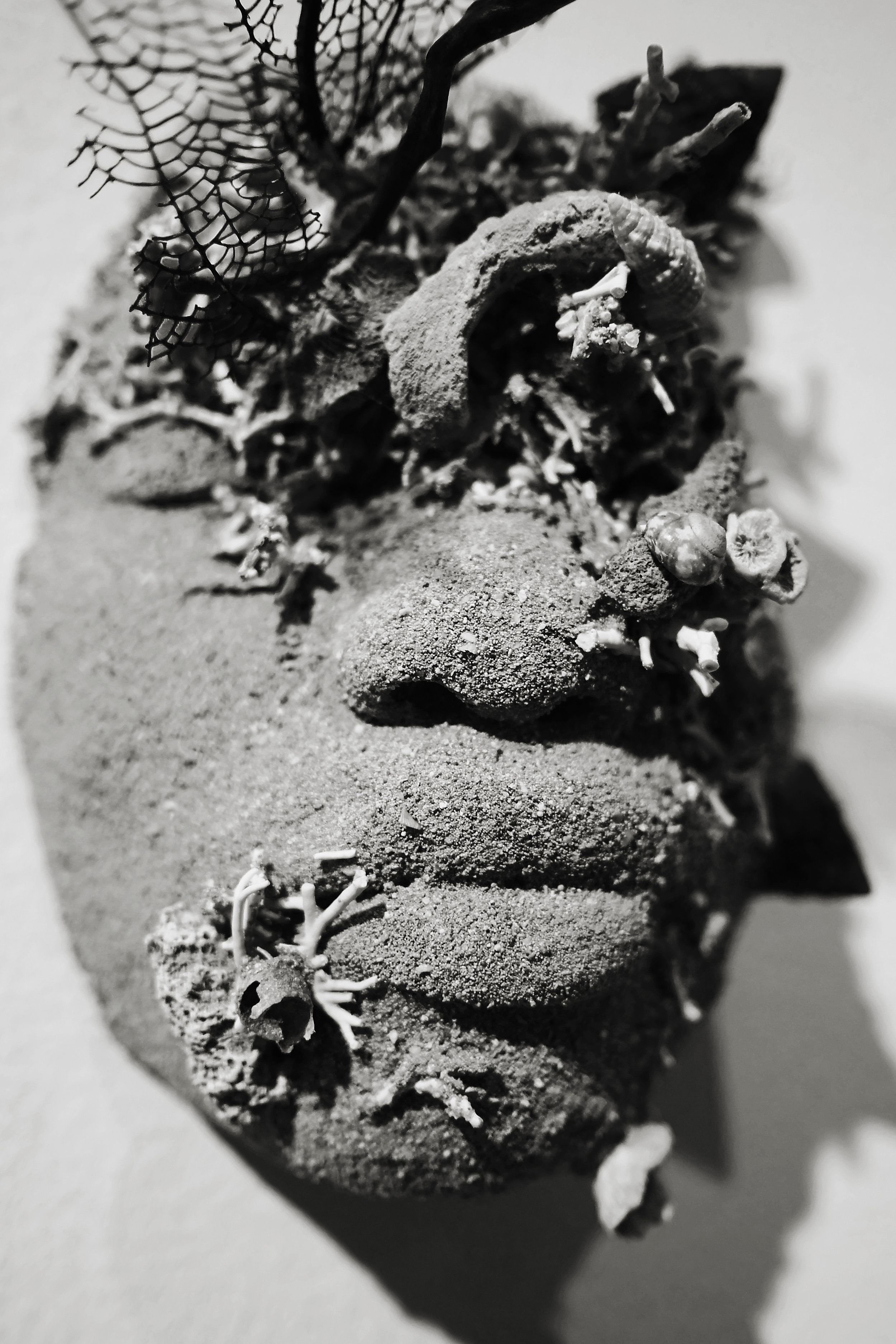 """Detail of Edrin Symonette's """"Island Life: The Ballad of Deangelo Johnson for Quakoo Street"""" as a part of Double Dutch, """"Of Skin and Sand"""" which opened on Friday, July 21st at the NAGB."""