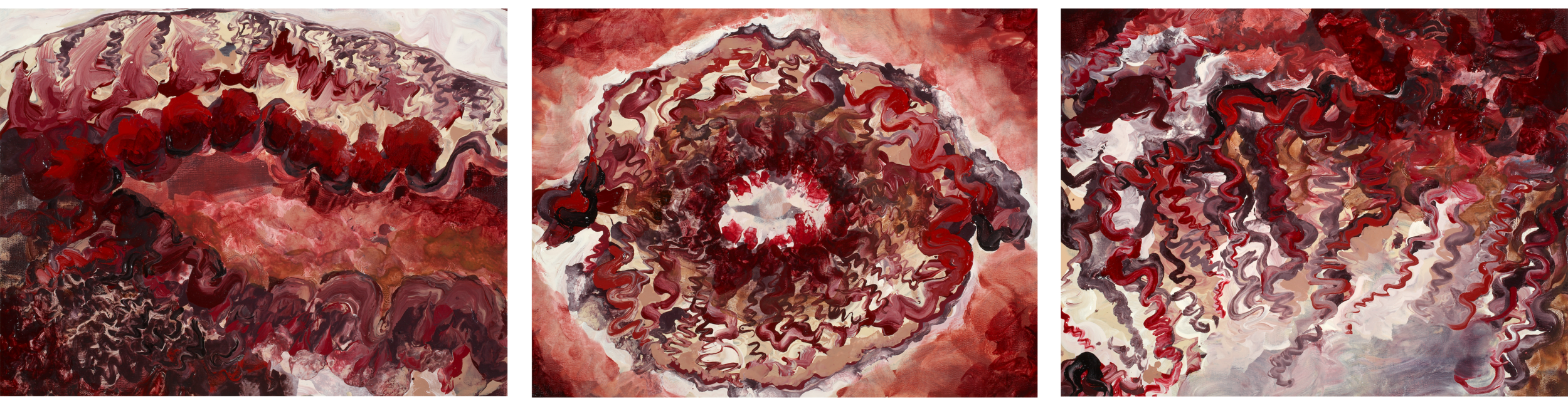 Lynn Parotti's 'The Blastocyst's Ball: A Journey Through the Drug Induced stages of IVF (IN VITRO FERTILISATION) Featuring Ovitrelle's Luteal Lune, Crinone's Crave, & Follistimitus Irreconcilibus' (2008), oil on canvas, 13 x 17 (3). Part of the National Collection.