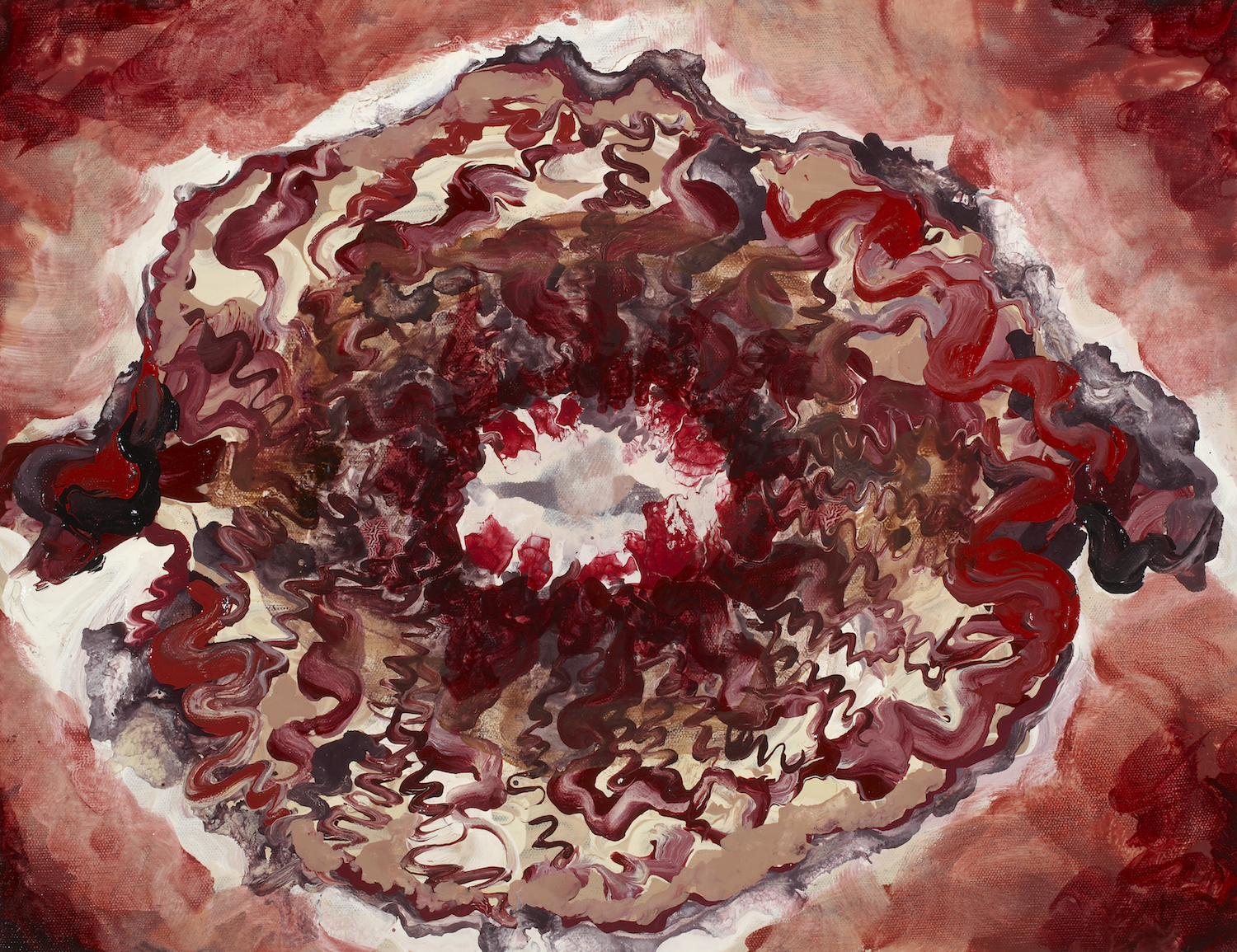 Lynn Parotti's 'The Blastocyst's Ball: Crinone's Crave' (2008), oil on canvas, 13 x 17 (3). Part of the National Collection.