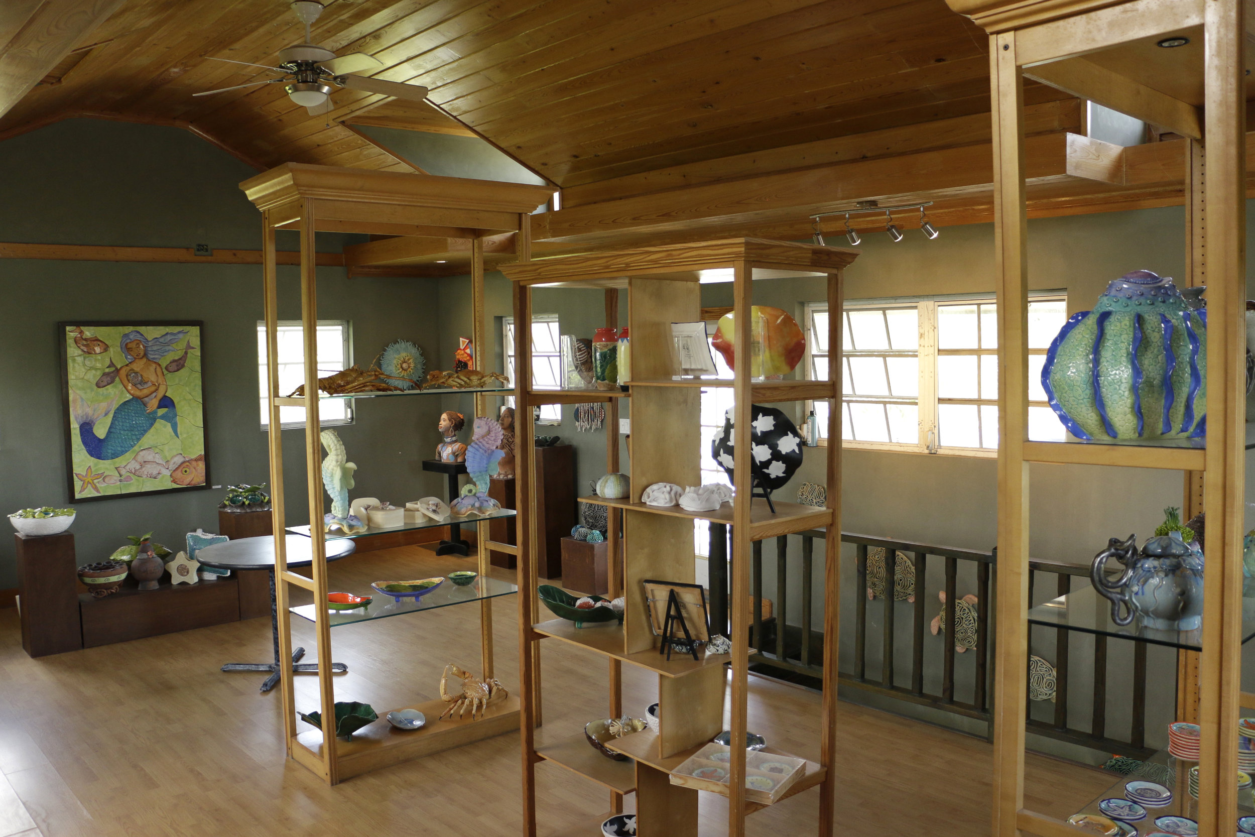 Showcase area and gallery at Jessica's Tileworks Studio (Photo by Keisha Oliver)