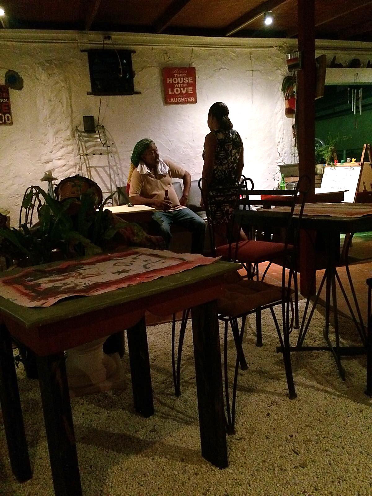 Women enjoying a drink at the bar.