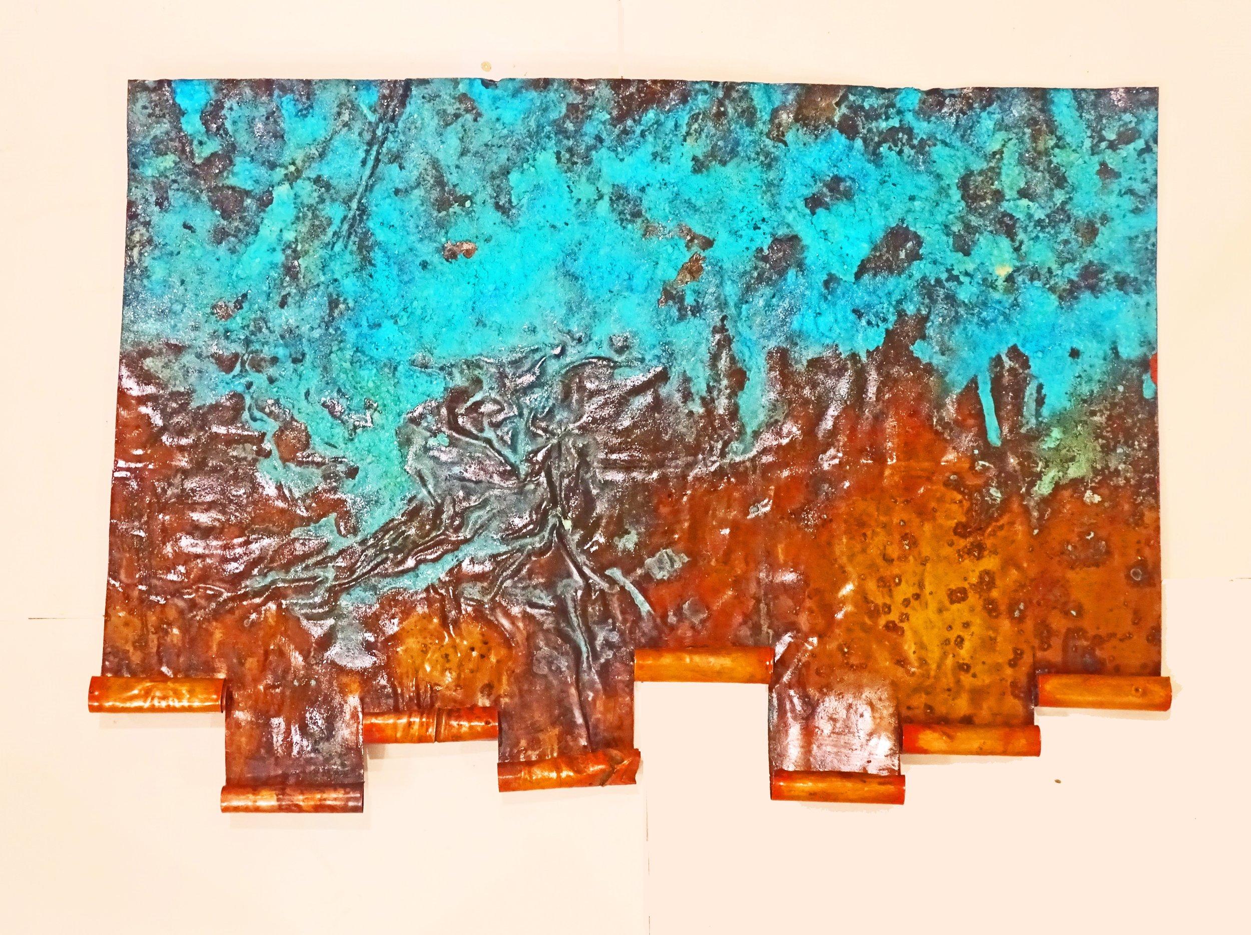 """""""On the Rolling Sea"""" cooper installation by Dwight Laadan Ferguson"""