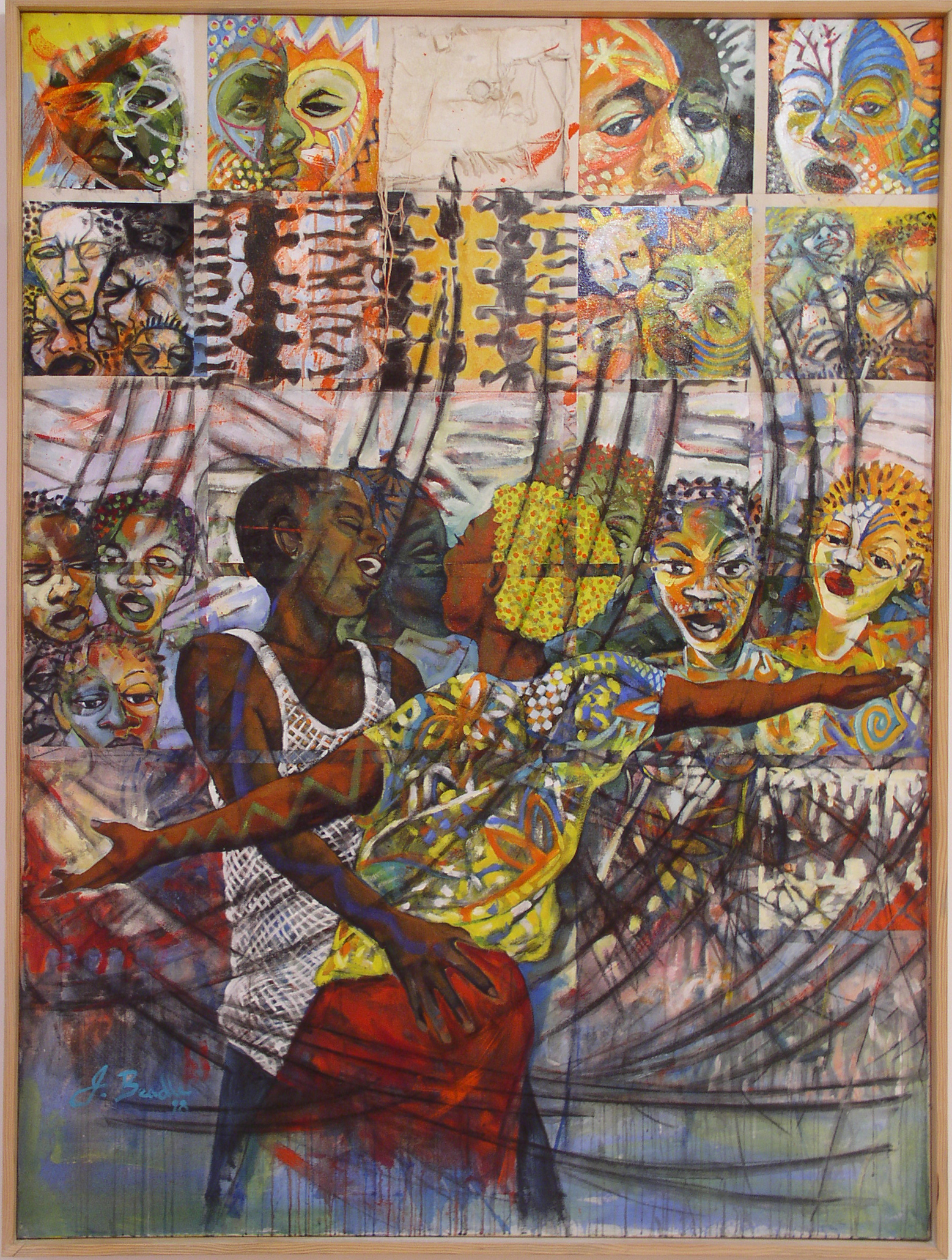 """""""Emancipation Day Boat Cruise"""" (2000), John Beadle, acrylic on canvas, 71 x 53. Part of the National collection."""