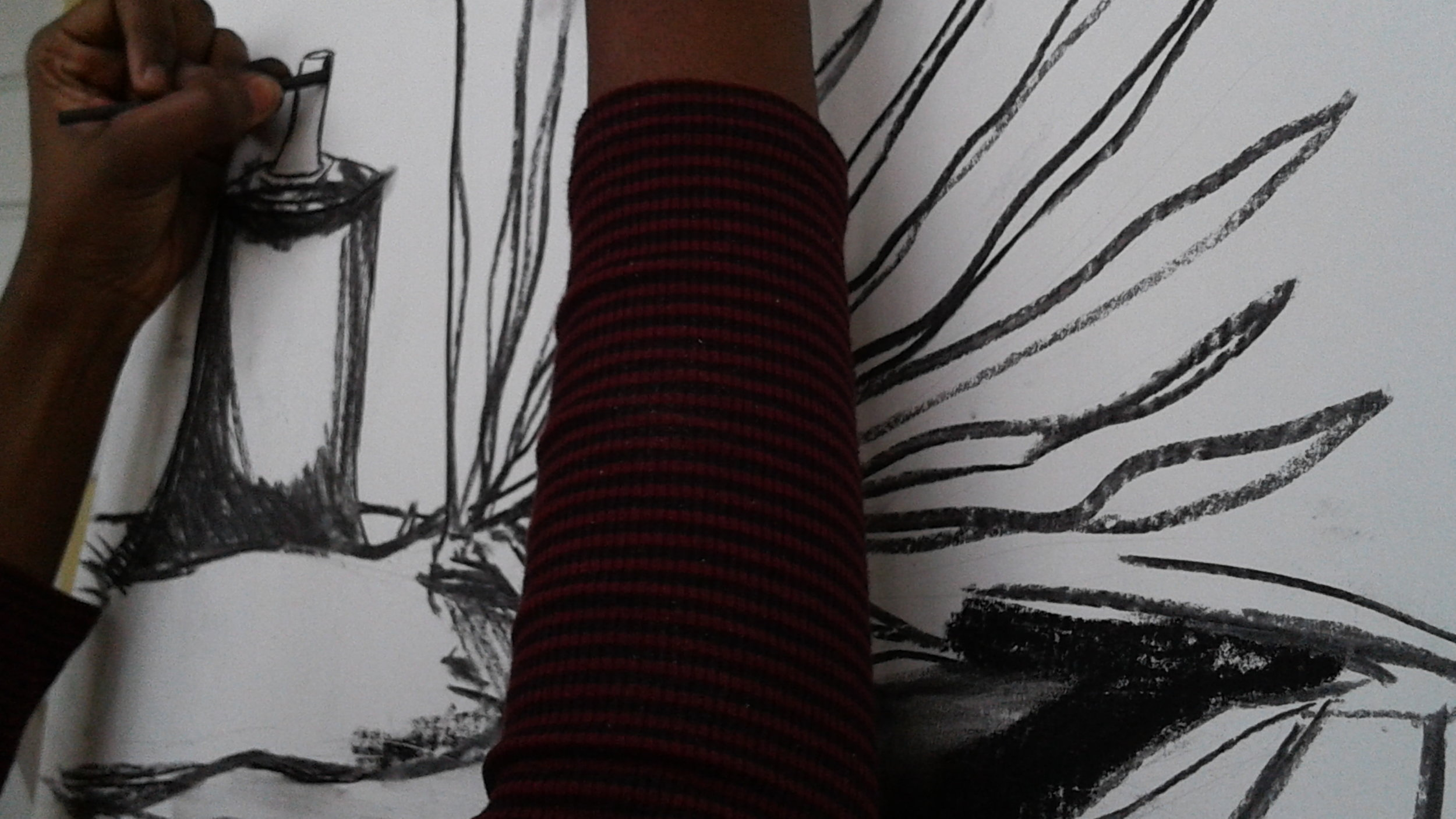 Observational drawing in progress (close up). All images courtesy of the NAGB