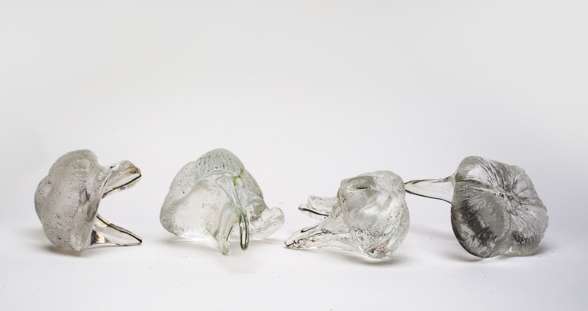 """Wisdom Teeth"" (2017), Anina Major, glass, 3 x 5 x 3 (4). Collection of the artist. Cast from dried coconut husks in sand."