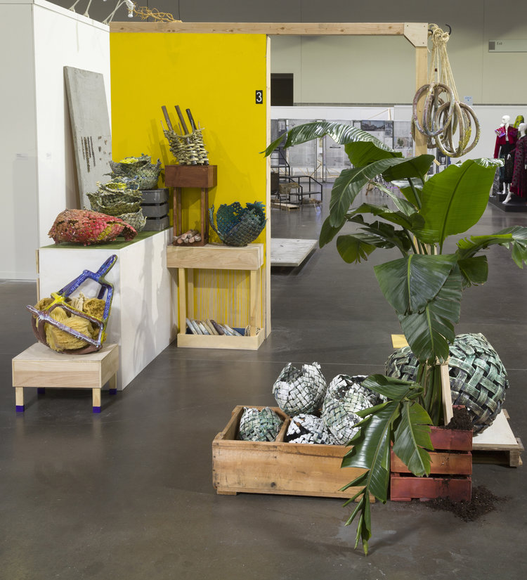 """""""In the Marketplace"""" (2017), Anina Major, installation, dimensions variable."""
