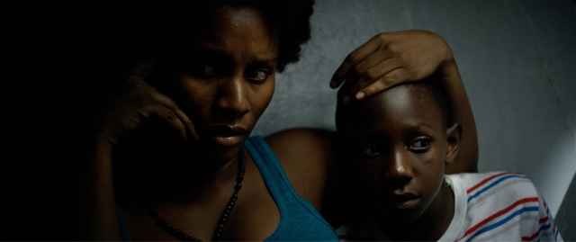 """Still from """"Cargo,"""" with feature film veteran Gessica Geneus (left) and newcomer Brian Diligence (right)"""