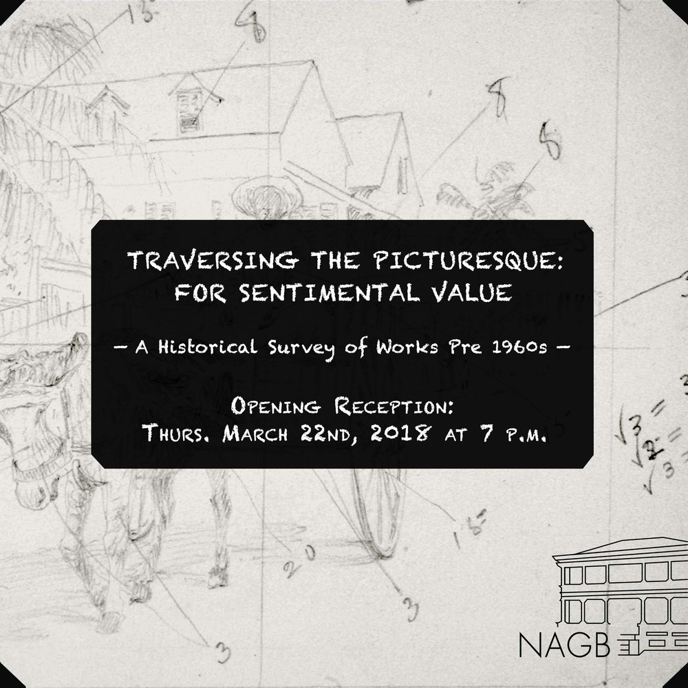 """""""Traversing the Picturesque: For Sentimental Value"""" promotional Graphic."""