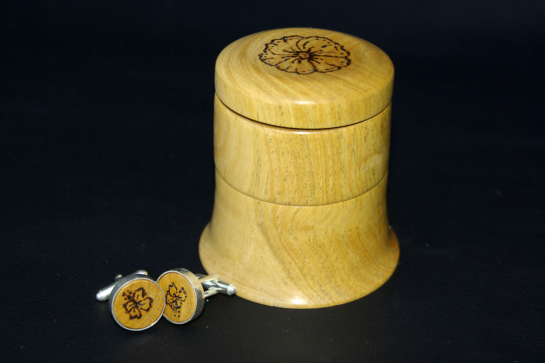 Cuff Links and Box by Jeremy Delancy