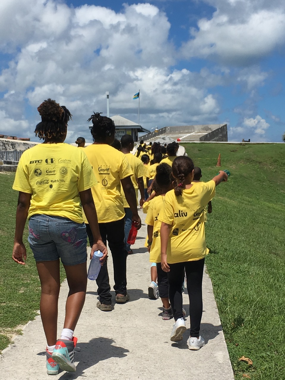 Campers on a field trip to Fort Charlotte