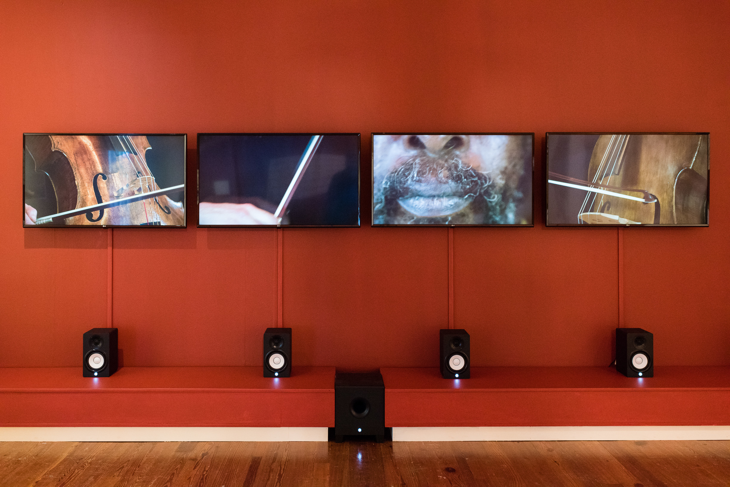 """""""The Slave's Lament"""" (2015), Graham Fagen, 5 channel audio/video installation, dimensions variable."""