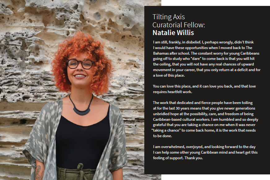 Natalie Willis, 2018 Tilting Axis Curatorial Fellow. Image provided by Willis.