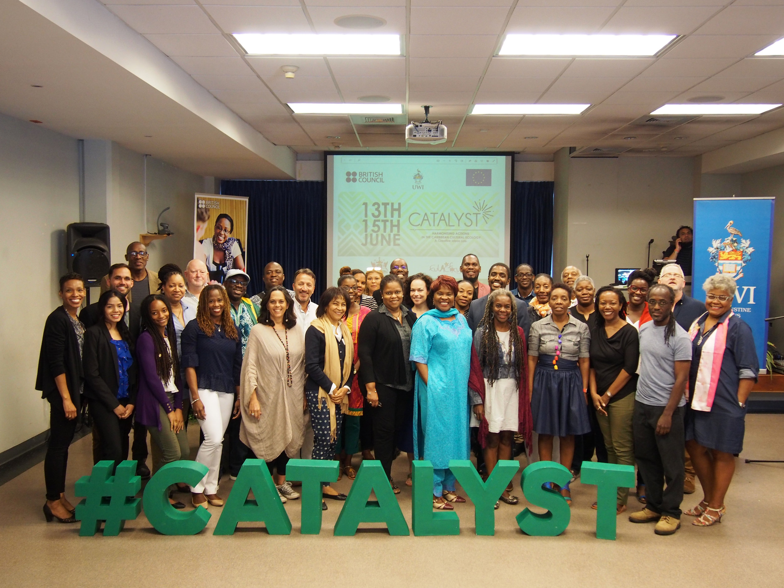 Group shot of CATALYST participants and stakeholders. All Images courtesy of Vishala Jabar.