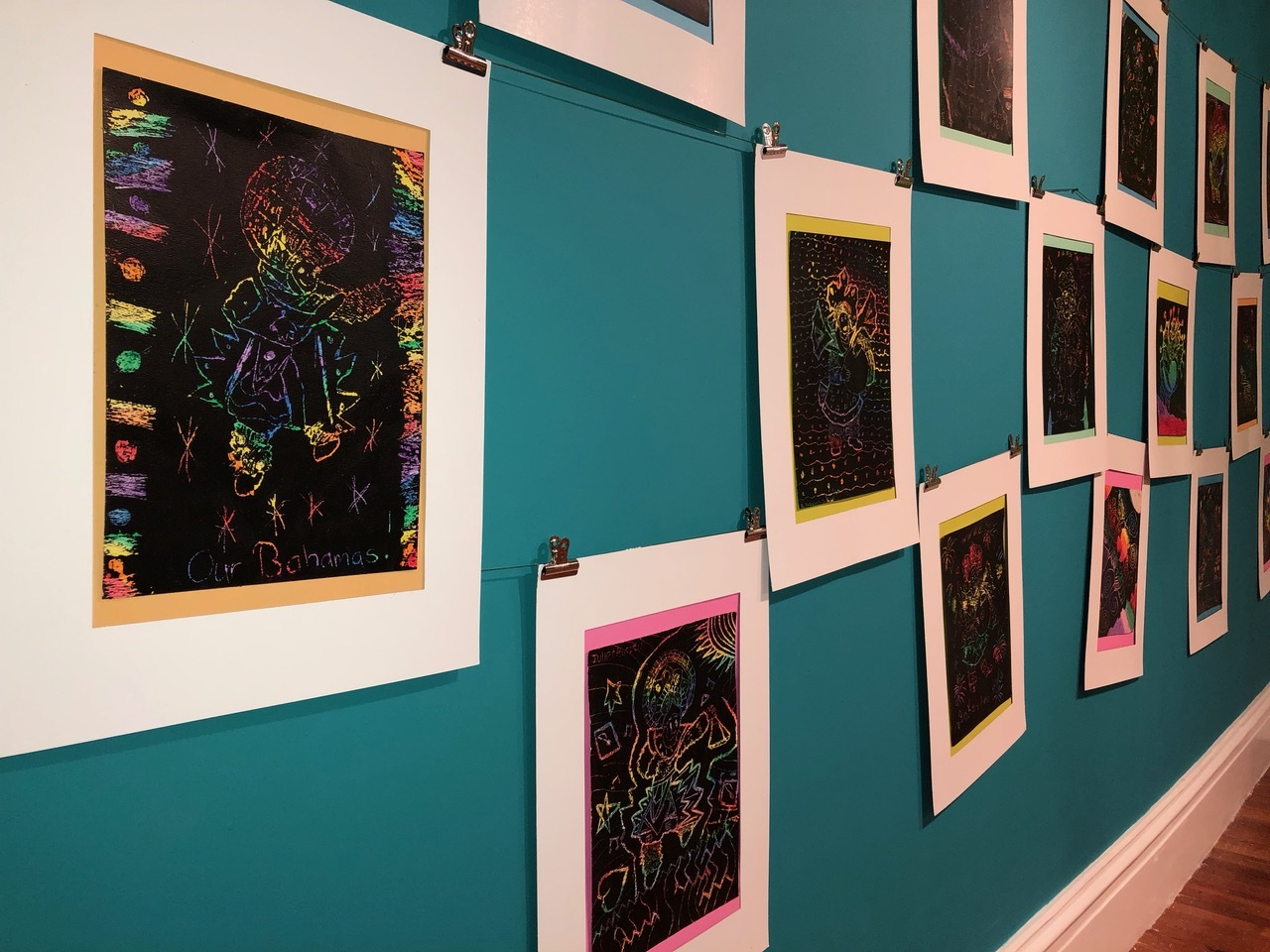 "Works inspired by Amos Ferguson on view as part of the NAGB's Permanent Exhibition, ""Hard Mouth: Tongue of The Ocean"". MMASC Exhibition, now showing in the PS Gallery on the main level of the NAGB features works by campers, ages 5-16."