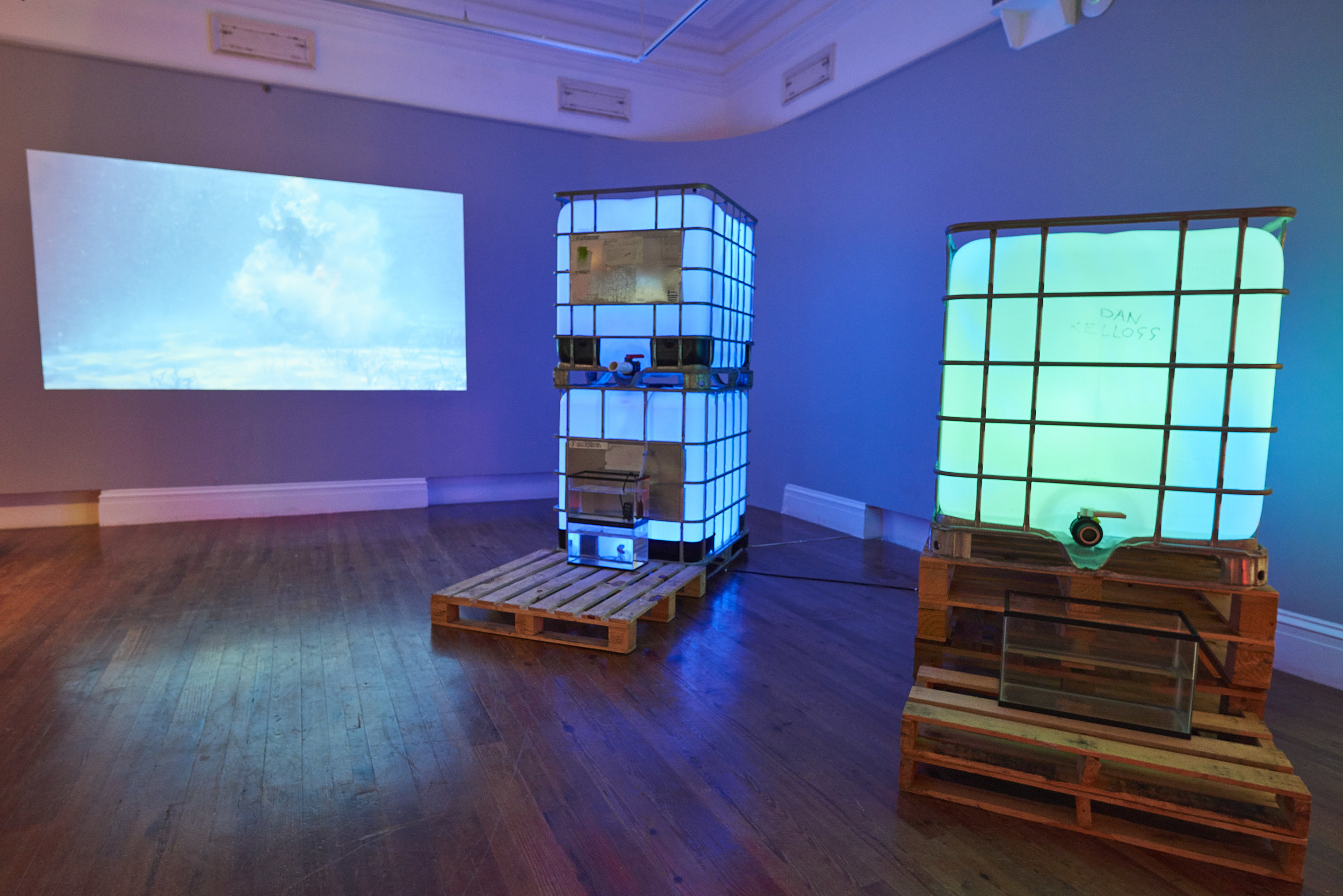 """Install shot of Double Dutch """"Hot Water"""" on view at the NAGB through October 21st. Image courtesy of Dante Carrer."""