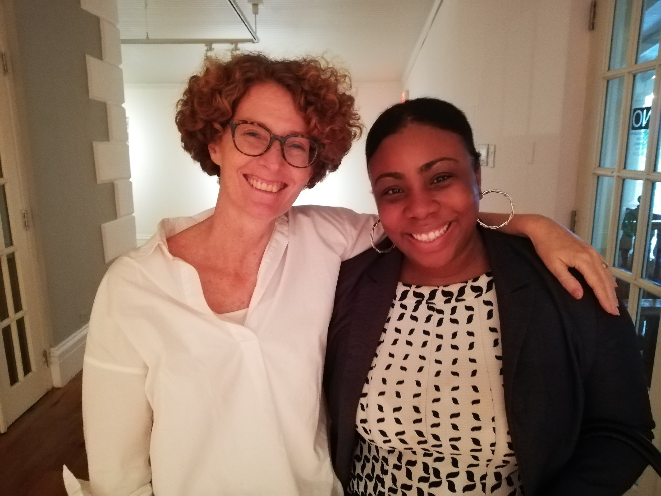 Image of Executive Director of NAGB, Amanda Coulson and Director of Culture, Rowena Poitier-Sutherland. Image by Sasha Dees