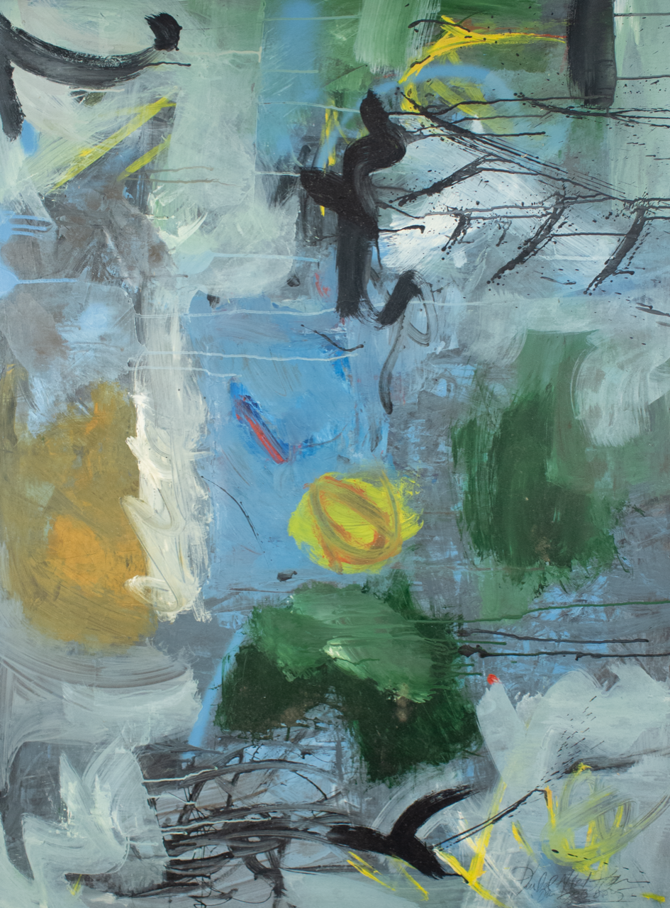 """Environmental Force"" (2005), Kendal Hanna, oil on masonite, 47 x 35 in. Part of the National Collection acquired from the NE3."