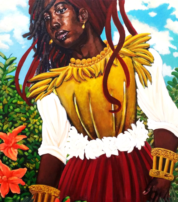 """Moorish Kesia"" by Justin Moultrie, acrylic on canvas, 2019."