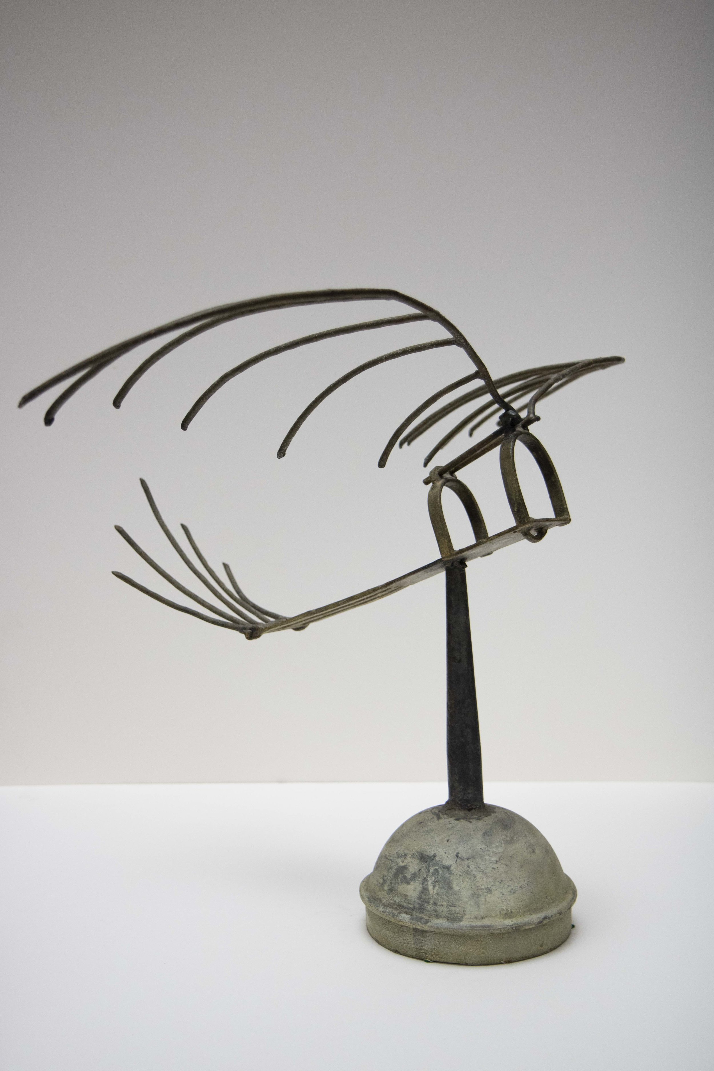"""""""Untitled (Rake Bird)"""" (nd), Tyrone Ferguson, metal, 22 x 30 inches. Part of the National Collection."""