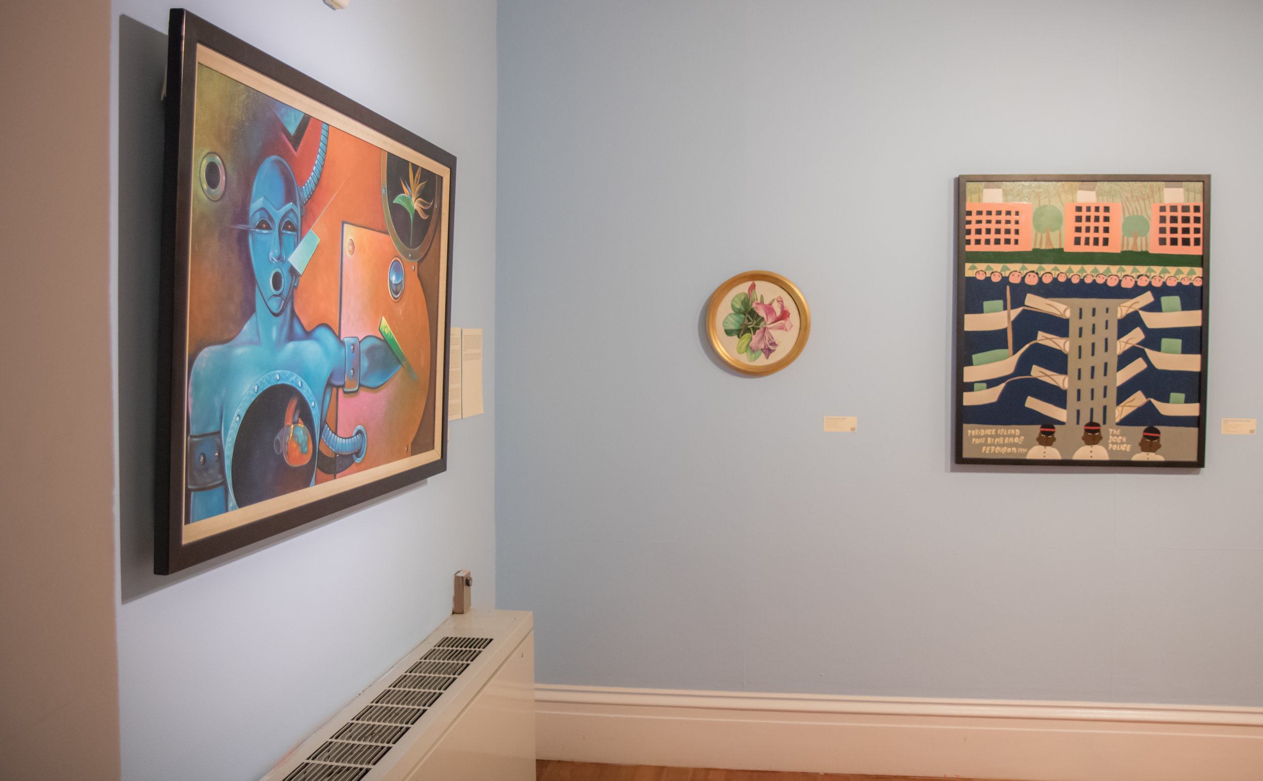 "Installation view of ""Poor Man's Orchid"" (1989) by Sue Bennett Williams"