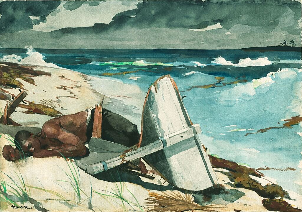 Winslow Homer. After the Hurricane, Bahamas. 1899. Watercolor. Copyright: Mr. and Mrs. Martin A. Ryerson Collection.