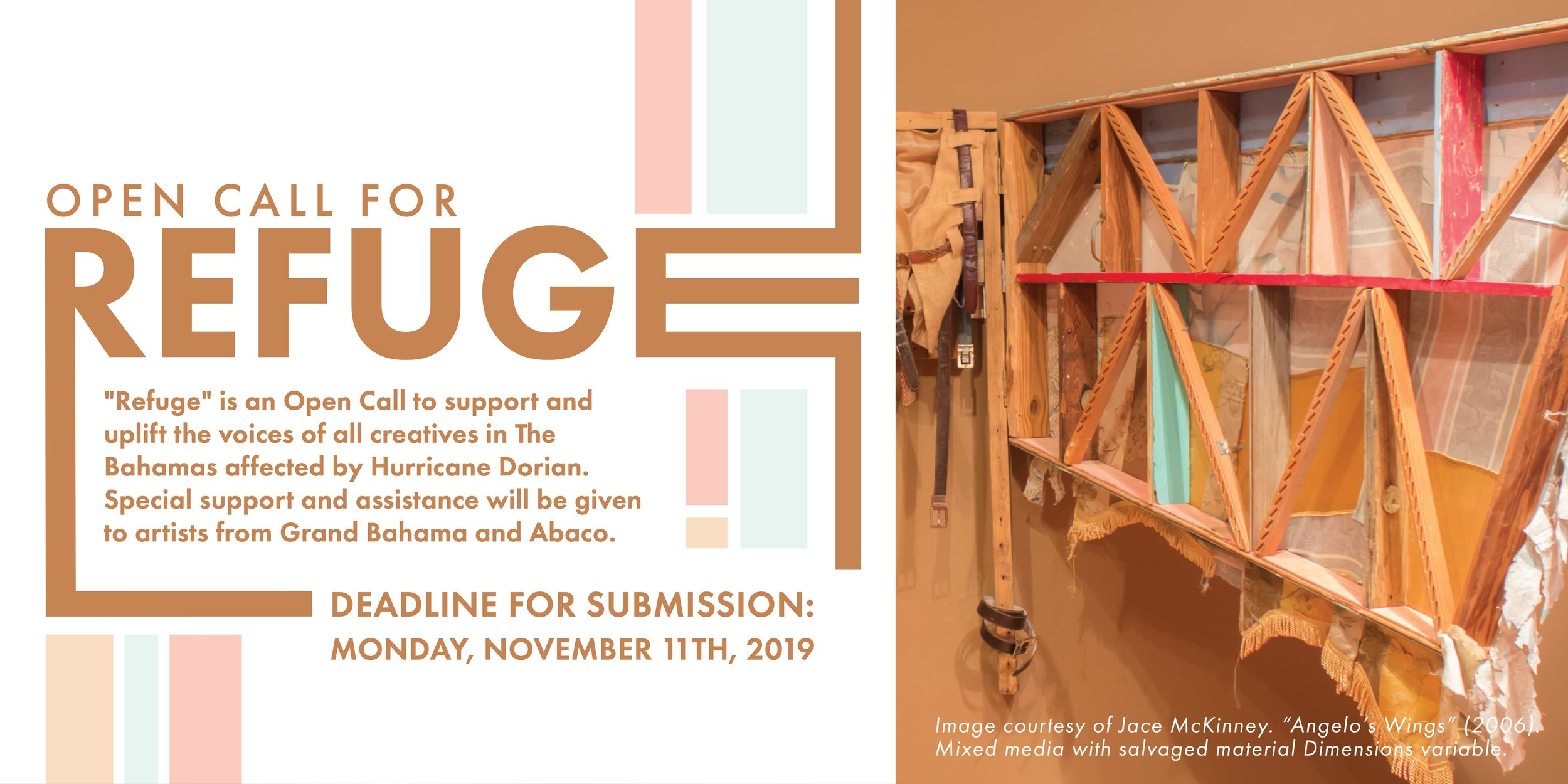 """Open Call for Works for """"Refuge"""" - The NAGB stages a call for artwork as we recover, rebuild and restore the nation's spirit."""