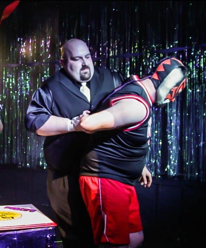 Tony Money, Attorney-at-Law attacks El Chubbs - Arm-Wrestle Mania - March 14, 2016 - Photographer: Joe Underbakke