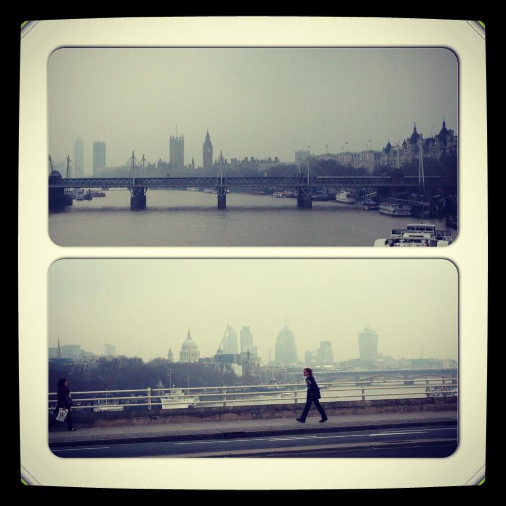 London, on a foggy day