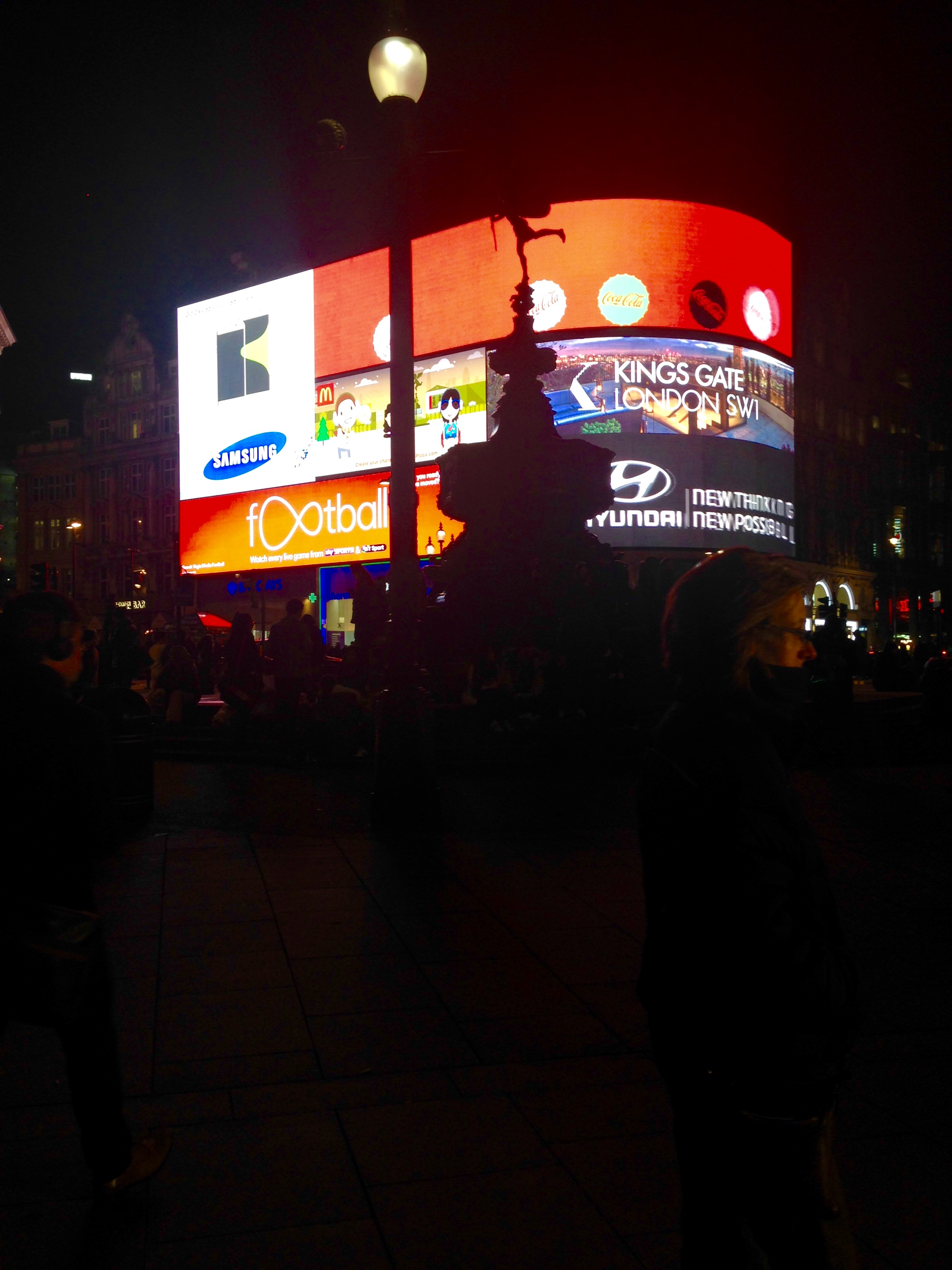 London's Piccadilly Circus, January 2016