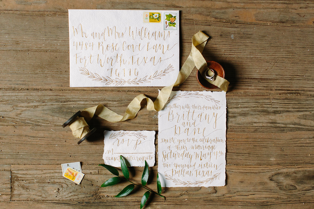Custom Wedding Invitation Suite Dallas