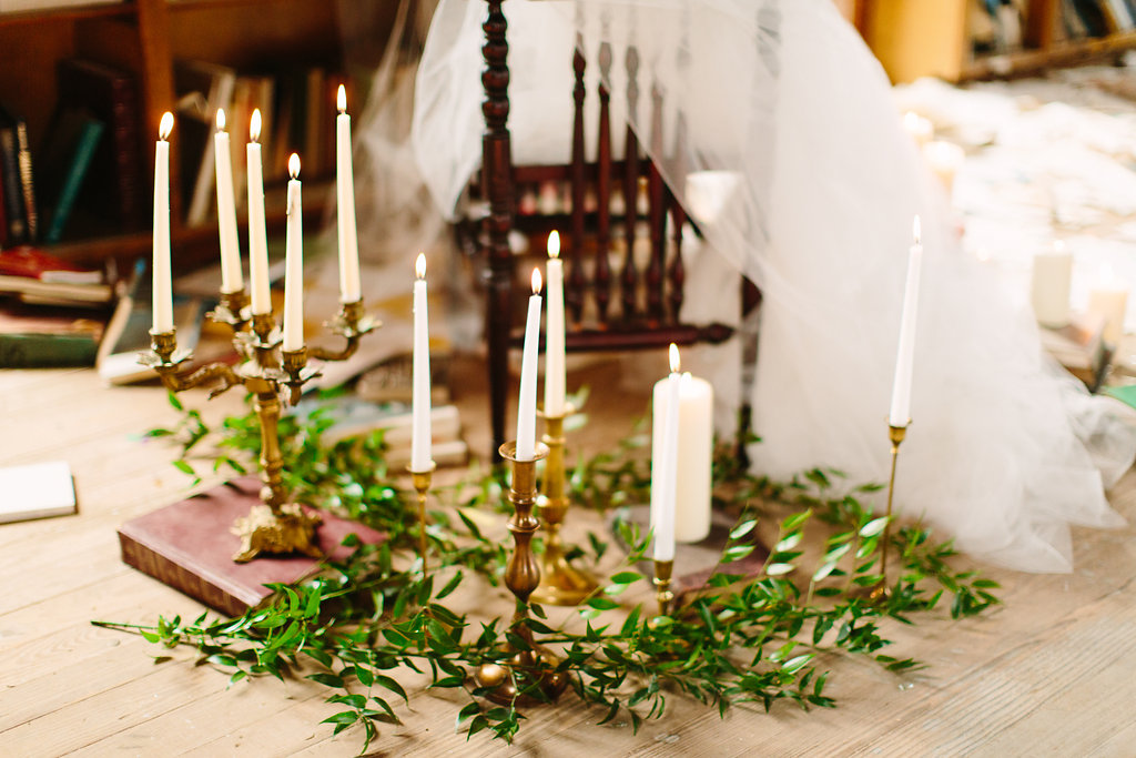 Romantic Wedding Altar Taper Candles