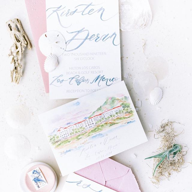 Yasssss!! Beyond excited to see Kirsten & Deran's destination Cabo wedding featured on @martha_weddings today!! 💕🙌🏼💕 Link in profile, full vendor team below:  photo @lunademarephoto | planning & design @gritandgoldeventco | paper & signage @prettypostcalligraphy | floral @loladelcampo | linens @latavolalinen |  venue @hiltonloscabos | mua @yibridal | gown @moniquelhuillierbride