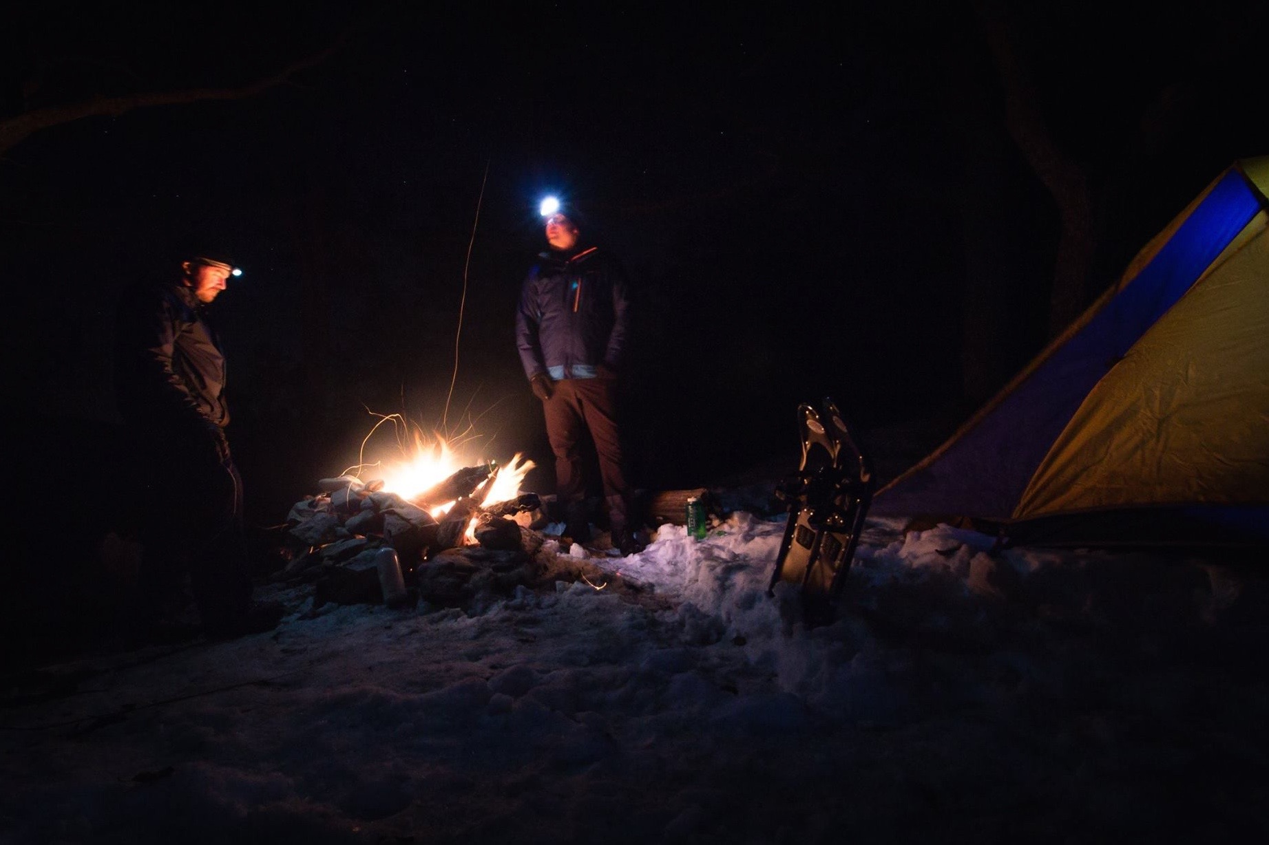 Winter camping in Virginia's Blue Ridge Mountains. (Photo by  Thomas Cluderay )